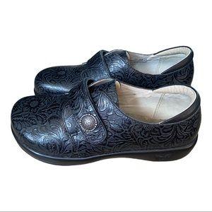 ALEGRIA JOLEEN nurse shoe clog IN BLACK size 9